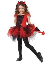 Girls Devil Tutu Costume (DEVILINA CHILD 12-14)