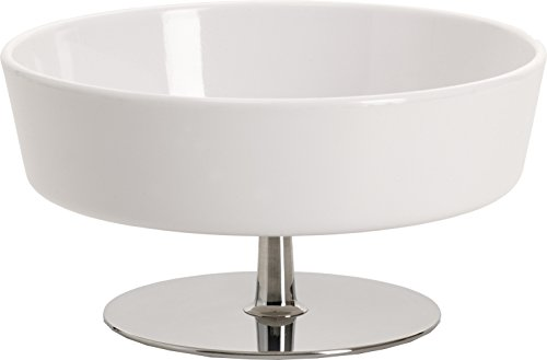 "Alessi""Ape"" Bowl For Chips in Thermoplastic Resin With Stand in 18/10 Stainless Steel Mirror Polished, White"