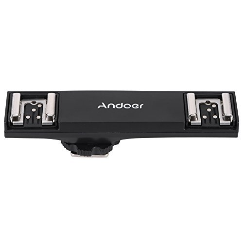 Andoer Dual Hot Shoe Flash Speedlite Bracket Splitter for Ni