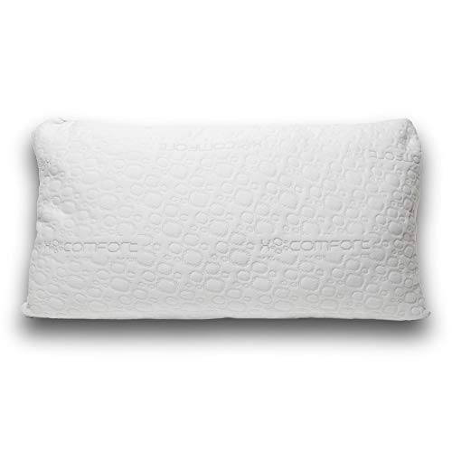 XOcomfort Hypoallergenic Cooling Shredded Memory Foam Bed Pillow | Patent-pending Foam Technology Gently Draws Heat Away | Adjustable Loft for Side, Back, and Stomach Sleepers | Pillow Size: Queen