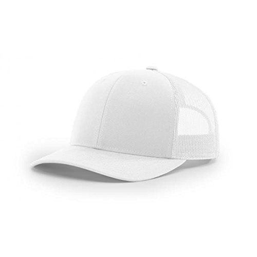 Richardson White 112 Mesh Back Trucker Cap Snapback Hat
