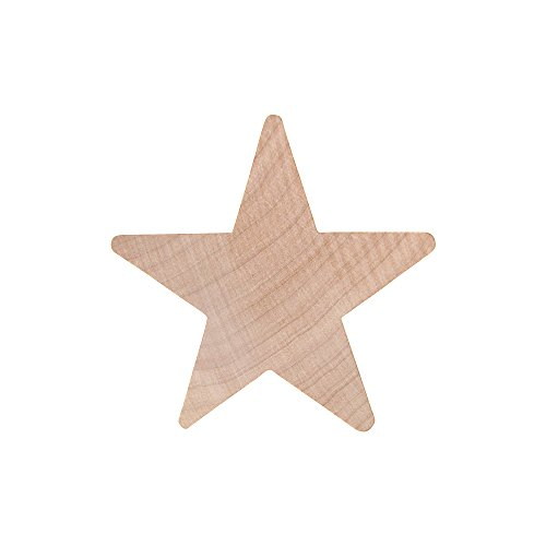 Woodpeckers - 2 Wood Star, Natural Unfinished Star Wood Cutout Shape (25)