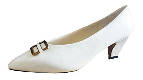 Classy women's court shoes in cream white (7371) cream white g6NGjkJ