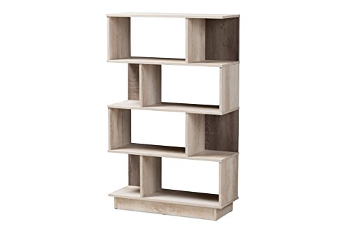Baxton Studio 146-424-A8300-AMZ Freren Bookcase Oak for sale  Delivered anywhere in USA