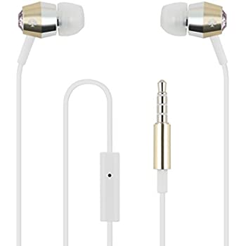 kate spade new york Earbuds [In-Ear Headphones] with Gold & Silver Trim - Vintage Rose
