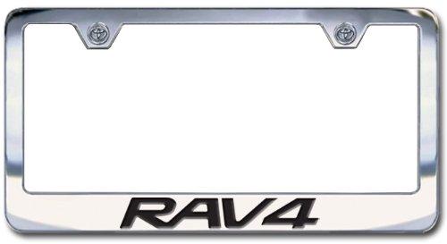 amazoncom toyota rav4 chrome engraved license plate frame block lettering automotive