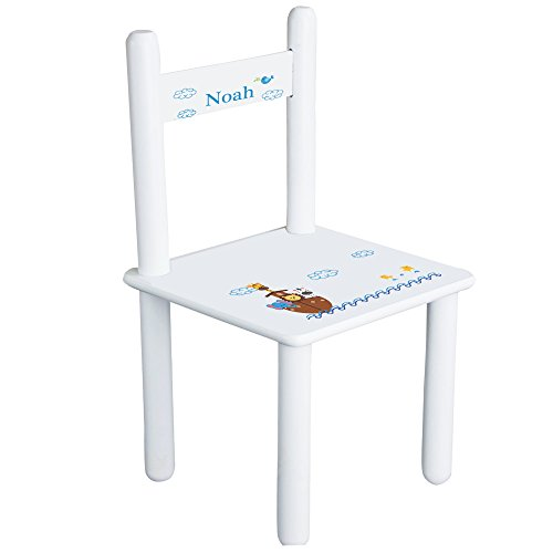Personalized Noahs Ark Child's Chair - White