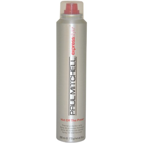 Paul Mitchell Hot Off The Press- Thermal Protection Spray for Unisex, 6 Ounce (Protection Thermal Formula)