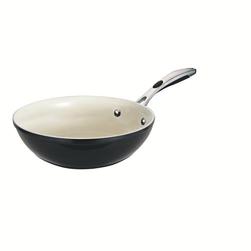 Tramontina 80110/022DS Gourmet Ceramica 01 Deluxe Stir Fry, 11-Inch, Metallic Black - Porcelain Wok