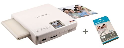 Pandigital PANPRINT01 Zero Ink Portable Color Photo Printer Bundle with 45 sheets 4X6 ZINK photos paper
