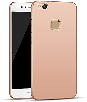 Apanphy Huawei P10 Lite Funda, Alta calidad Ultra Slim Hard sedoso Scrub Shell plena protección trasera piel siento cover para Huawei P10 Lite Oro Rosa: Amazon.es: Electrónica