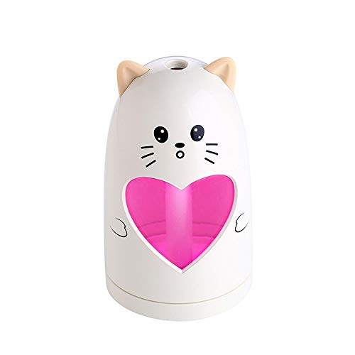 - E-Scenery Mini Cool Mist Humidifier, Cute Animal 180ml Aroma Essential Oil Diffuser for Office Home Car Study Yoga Spa Travel, Whisper-Quiet Operation & Automatic Shut-Off (Beige)