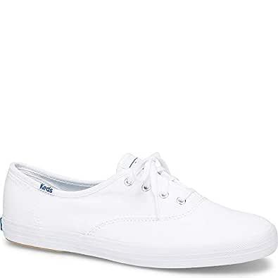Keds Women's Champion Original Canvas Sneaker, White,5 N US