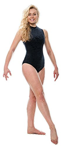 30298ec43391 Katz Dancewear Dance Gymnastics Velour Velvet Sleeveless Leotard ...