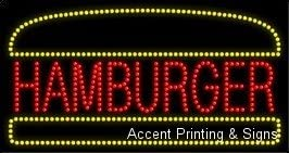 High Impact, Energy Efficient Hamburger LED Sign
