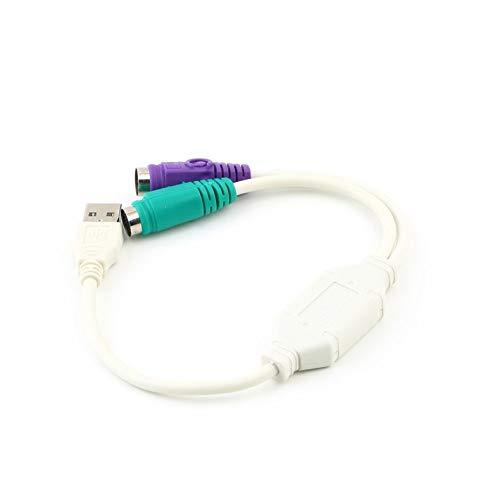 Homme USB PS2 femelle c/âble adaptateur convertisseur pour clavier /à la souris Plug-and-Play deux clavier PS2 ou deux souris PS2