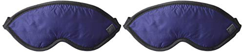 Lewis N. Clark Comfort Eye Mask + Sleep Aid to Block Light for Travel Hotel, Airport, Insomnia + Headache Relief with Adjustable Straps, 2 Pack, Blue