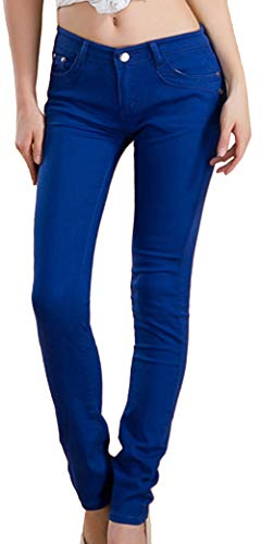 Sottili Dark Blue Skinny Lunghi Pantaloni Stile Snone Autunno A Leggings Jeans Casual Trend Elasticità Donna Matita Corti Slim a74SOcwAxq