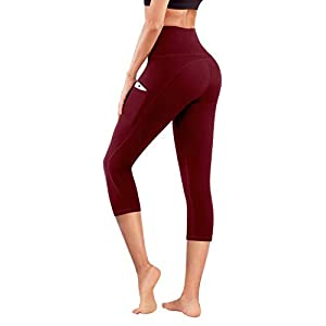 PHISOCKAT High Waist Yoga Pants with Pockets