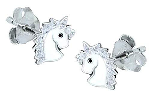 Silver Glitter Sterling Silver Unicorn Earrings /& Necklace Gift Set Katy Craig