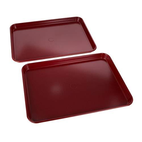 Curtis Stone Dura-Bake Set of 2 Sheet Pans Red (Certified Refurbished)