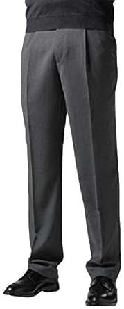 knightsbridge comfort wool mens dress pants expandable waist single pleat at amazon men s. Black Bedroom Furniture Sets. Home Design Ideas