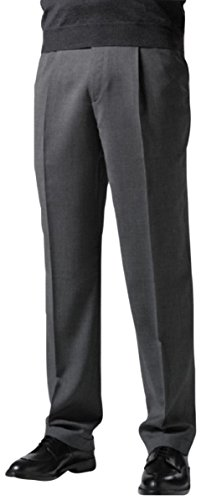 Mens Comfort Stretch Wool Dress - Knightsbridge Comfort Stretch Blend Wool Mens Dress Pants - 1 Pleat Beige 34