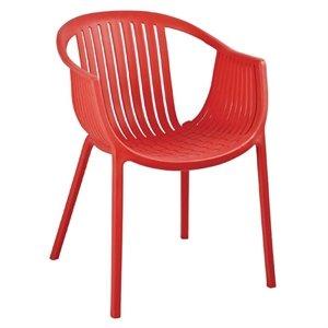 4 x Bolero Red Polypropylene Plastic Tub Chairs (Pack of 4 ...