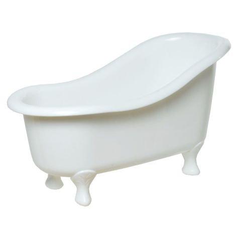 Deko Badewanne Kunststoff weiß 26x13x14cm