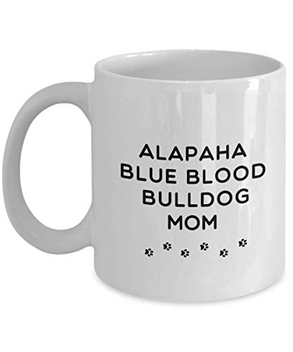 Best Alapaha Blue Blood Bulldog Dog Mom Cup Unique Ceramic Coffee Mug Gifts for Women 1