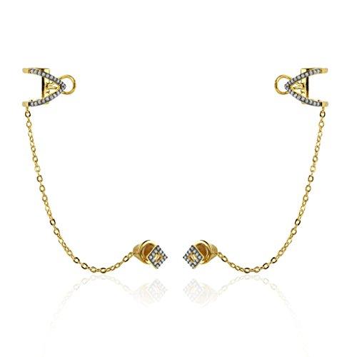 nOir Jewelry Bear River 14kt Gold Plated Earrings -