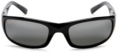 Maui Jim Stingray Noir Brillant Gris Neutre Polar+ Noir
