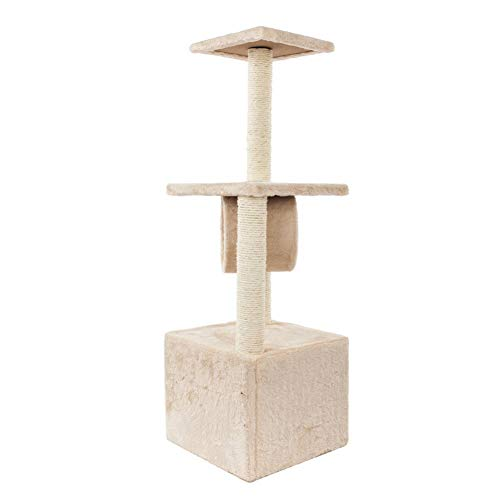 Assiduousic Multi-Level Cat Tree Three Layers Cat Climbing Frame Triple Platforms Pet Cat Climbing Platform Kittens Playing House with Scratching Posts for Kittens, Cats and ()