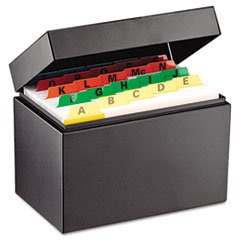 Index Card File Holds 400 4 x 6 cards 6 3/4 x 4 1/5 x 5 by STEELMASTER