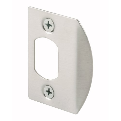 Prime-Line E 2457 Standard Latch Strike, 1-5/8 in., Steel, Satin Nickel Finish (Pack of 2) ()