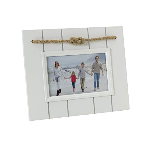 Amazon.com - MELANNCO Knotted Coastal Picture Frame, 6x4 inch, White -