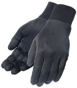 TOUR MASTER SILK GLOVE LINER (MEDIUM) (BLACK)