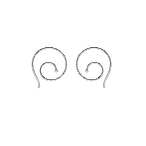 Boma Small Sterling Silver Swirl (Small Swirl Earrings)