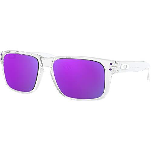 Oakley Men's Holbrook XS Sunglasses,OS,Polished Clear/Violet Iridium