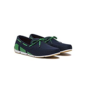 SWIMS Men's Breeze Loafer for Pool and Summer - Navy/Green/White, 9