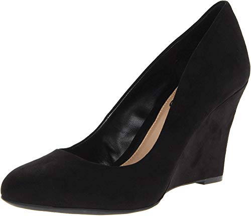 Jessica Simpson Women's Js-Cash, Black Suede, 8.5 M US