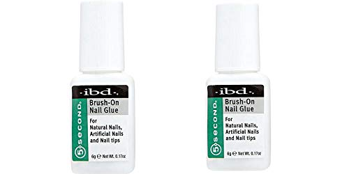 Ibd 5 Second Brush On Nail Glue 54006 / Treatments through IBD (Pack of two)