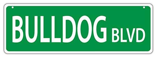 (Plastic Street Sign New Bulldog BLVD-Bull Dog for Boys Girls Kids Children 9