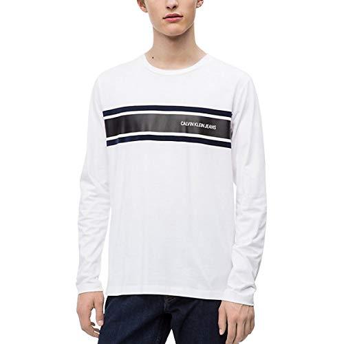 Calvin Klein - J30J309586 - Camiseta Manga Larga Bianco