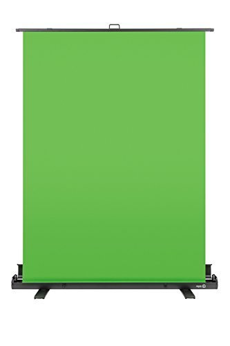 Green Aluminum Case (Elgato Green Screen — Collapsible chroma key panel for background removal with auto-locking frame, wrinkle-resistant chroma-green fabric, aluminum hard case, ultra-quick setup and breakdown)