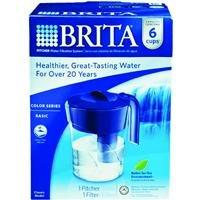 Brita Classic Pitcher, 6 Cup, Navy ()