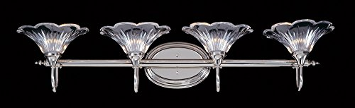 Framburg 8734 PS 4-Light Geneva Sconce, Polished Silver