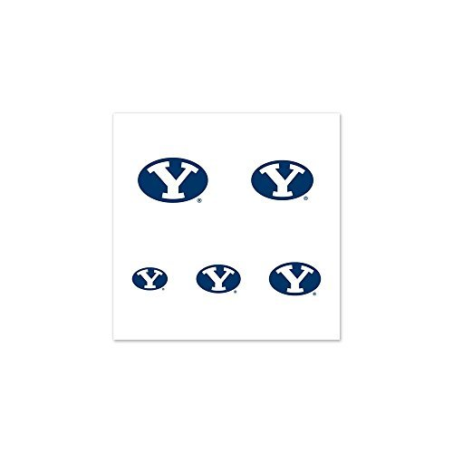 - BYU Cougars Official NCAA 1 inch Fingernail Tattoo Set
