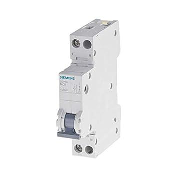 Siemens 5sy6/ Neutral 10/A /Leitungsschutzschalter 70/mm 10/kA curva-b 1/Polo
