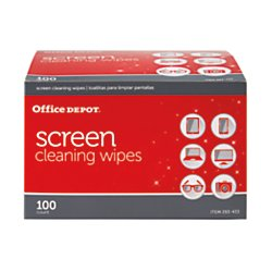 Office Depot(R) Brand Screen-Cleaning Wipes, Pack Of 100